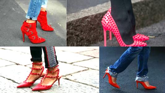 looks com sapato vermelho
