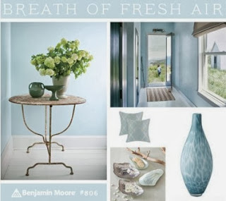 Benjamin Moore, pale blue, Breath of Fresh Air