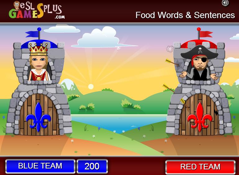 http://www.eslgamesplus.com/food-and-drinks-esl-vocabulary-game-catapult-game/
