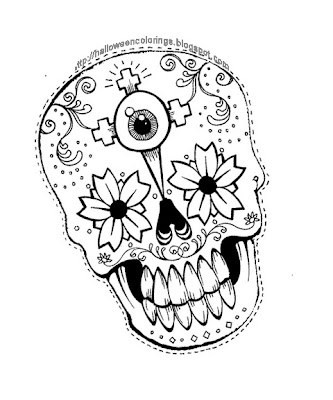 Teen Halloween Coloring Pages