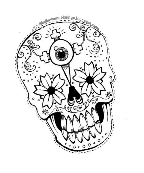 Scary Halloween Coloring Pages Adults : Coloring pages for teens printable kids