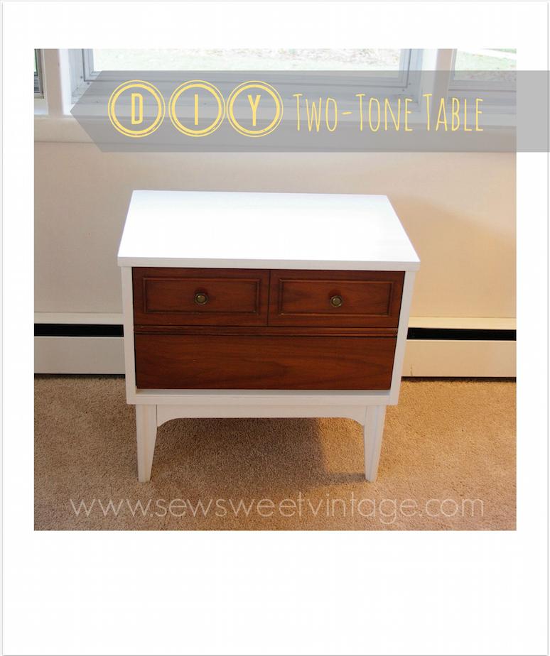 DIY two-tone retro table refinish