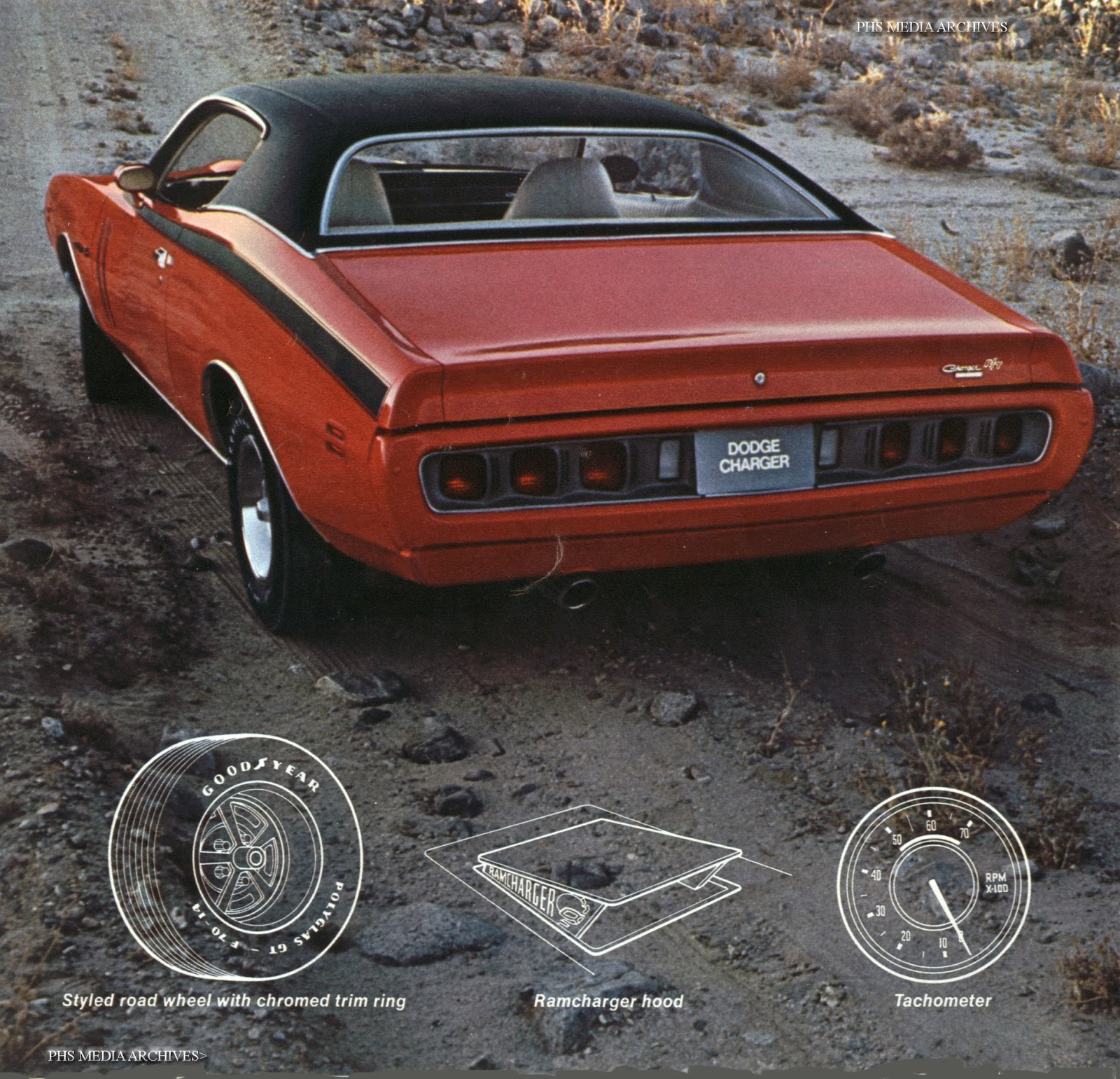 1971 charger was a 440 magnum car with six pack or hemi optional drawings show popular options