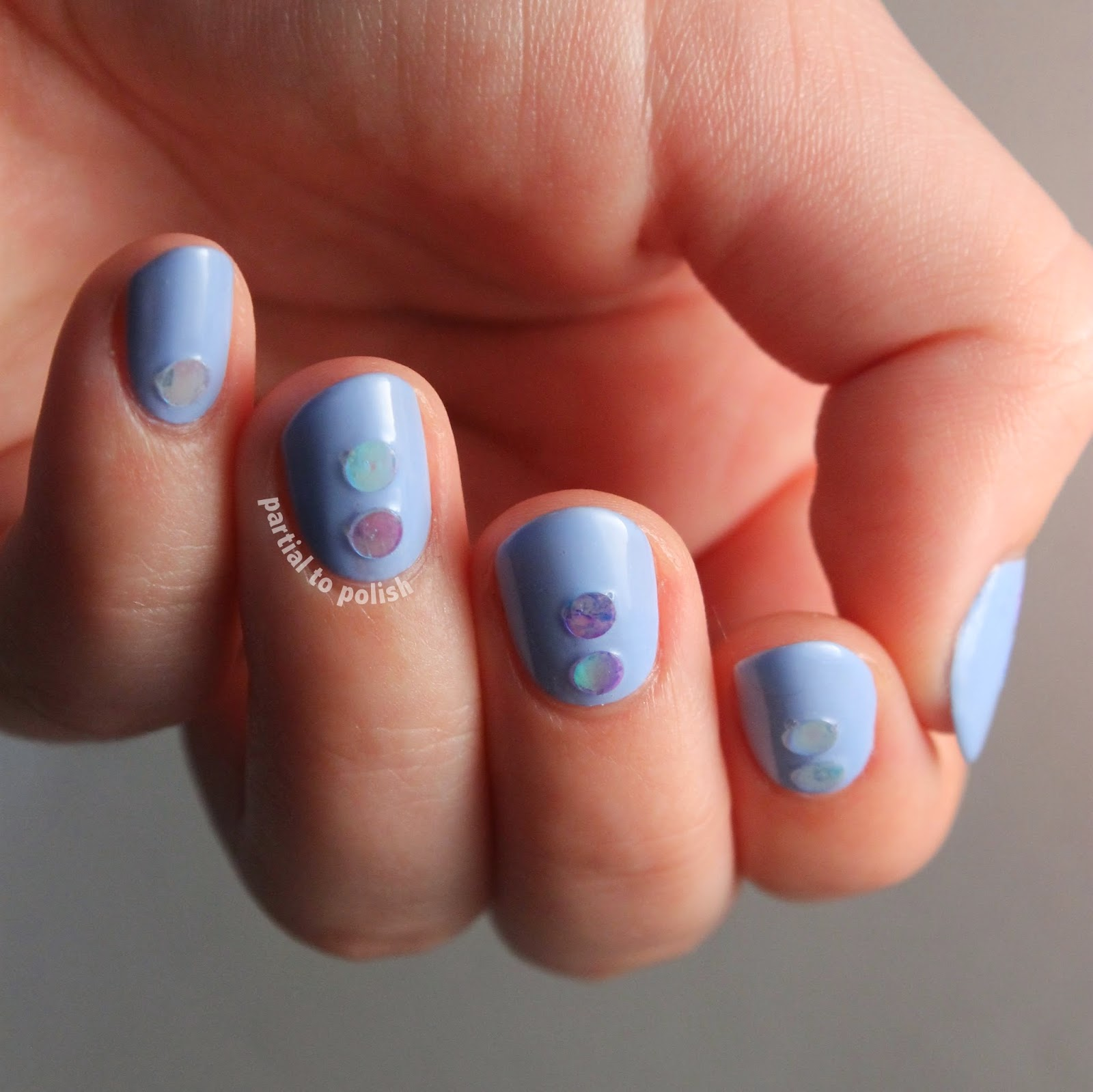 Born Pretty Store Glitter Set Review Featuring Light Blue Iridescent Glitter Nails