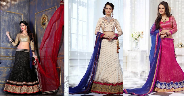Dress Up Like a Star with Designer Lehenga Cholis collection at Moksha Fashions