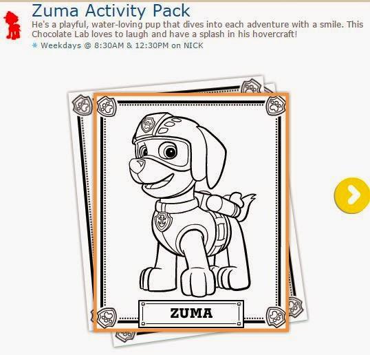 Paw Patrol o Patrulla Canina: Actividades para Imprimir Gratis de Zuma.