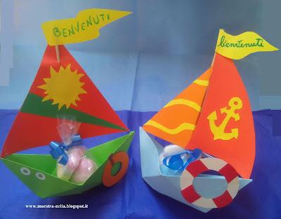 Maestra nella barchette di carta 39 benvenuti 39 for Addobbi scuola infanzia accoglienza