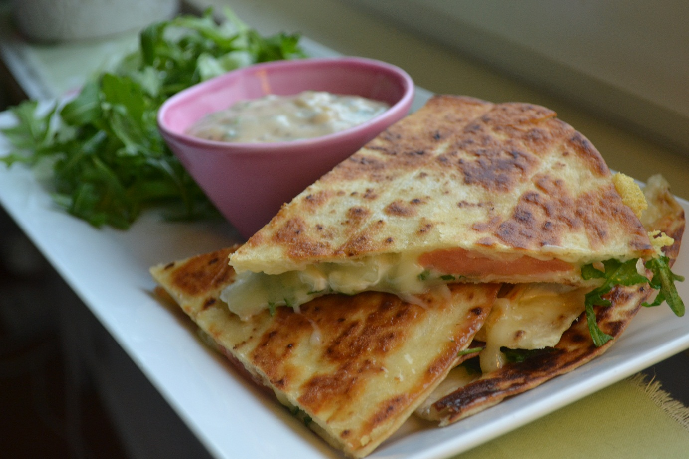 vegetariska quesadillas recept