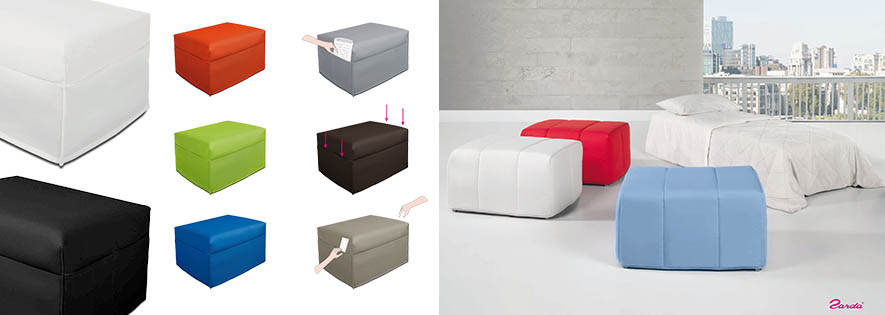 ,muebles de salon modernos,salones de diseño Madrid Puff cama