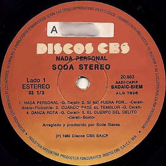 disco soda stereo: