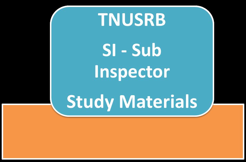 TNUSRB SI Exam Syllabus 23-05-2015