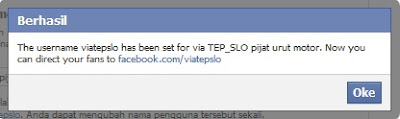Custom url fanspage facebook