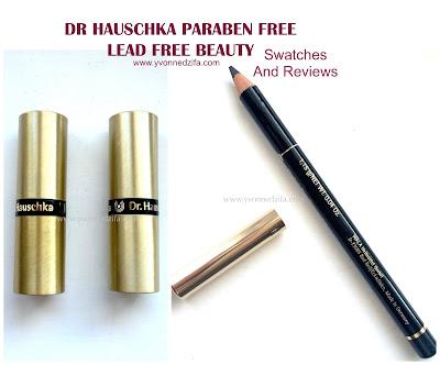 Dr Hauschka Lipsticks and eyeliner paraben free