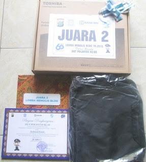 Hadiah Lomba Blog Ditlantas Polda Metro Jaya