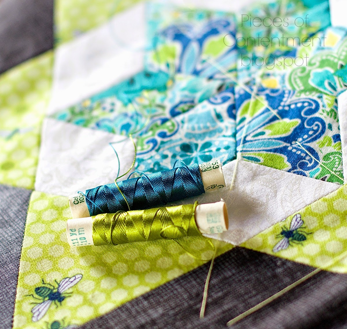 Pieces of Contentment: Hand Quilting with Silk Threads