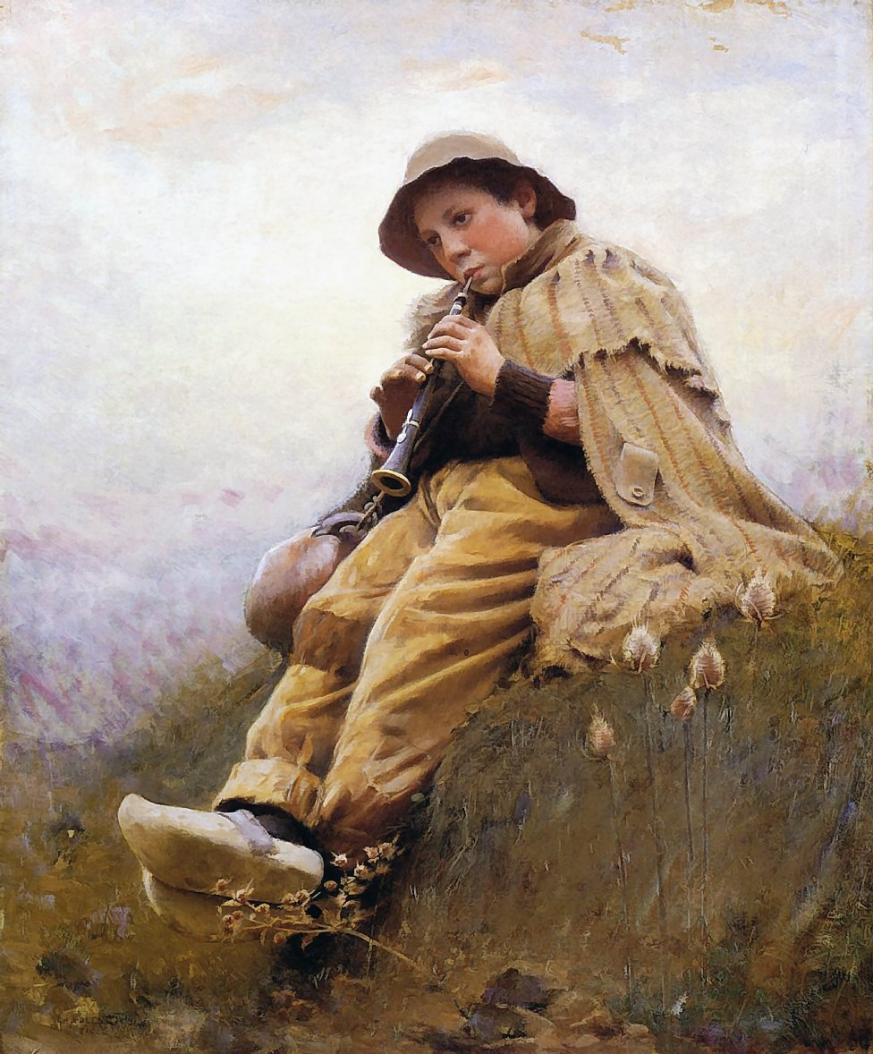 Charles  Sprague  Pearce  a  shepherd  boy