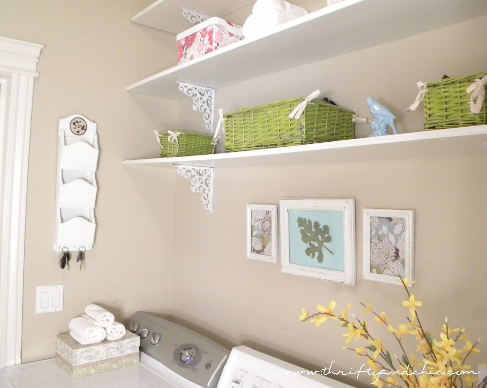 Light and Bright Laundry Room @ Thrifty and Chic title=