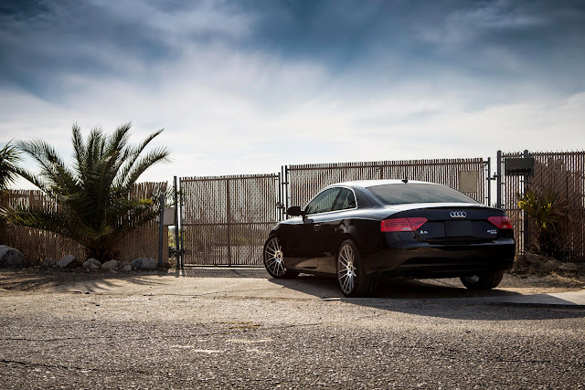Audi A5 with machined surface wheels