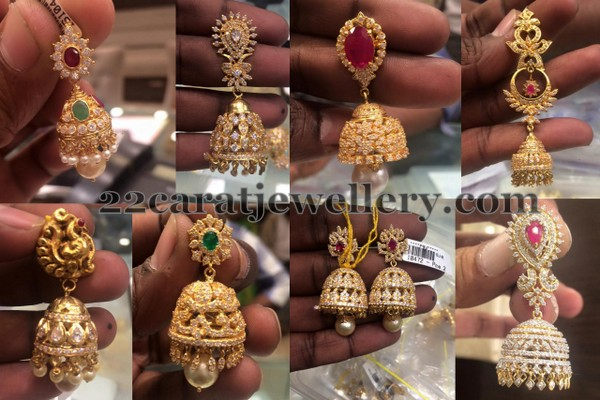 Trendy jhumkas in Light Weight