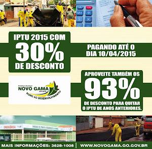 Descontos de 30% no IPTU até dia 10 de Abril