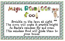 Magic reindeer dust poem printable reindeer food poem template