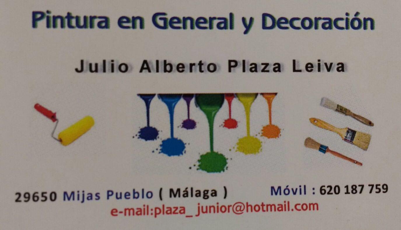 Pinturas Julio Alberto Plaza Leiva