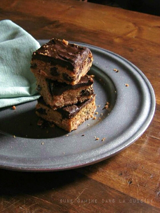 Cookie Butter Blondies | gamine dans la cuisine