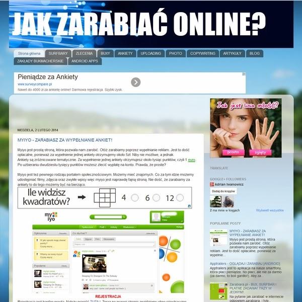 www.jakzarabiaconline.blogspot.com