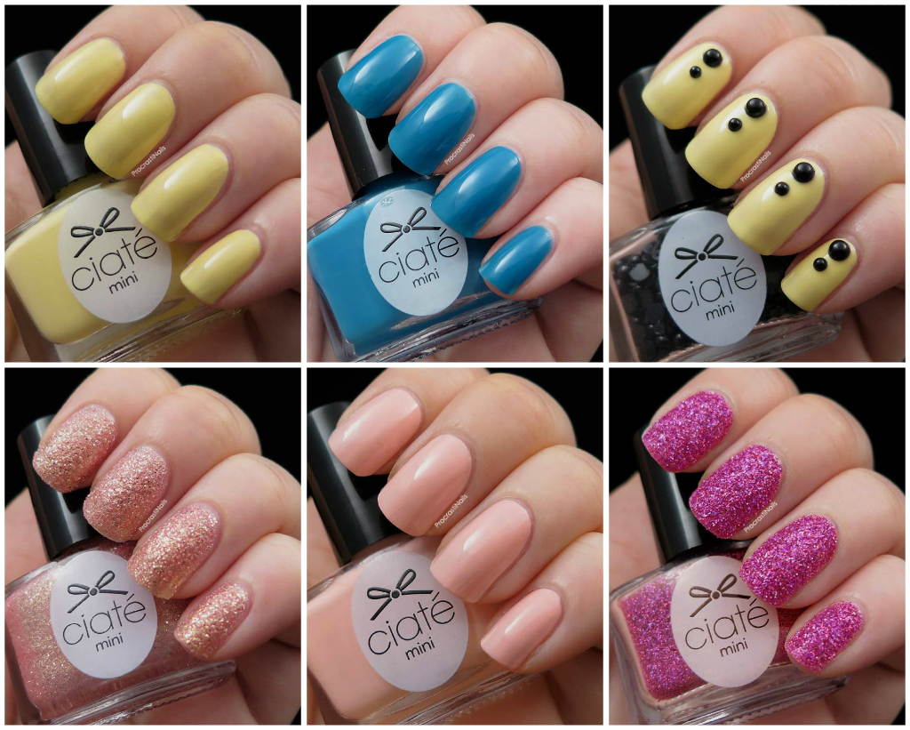 Collage of the Ciate polishes in week 2 of the Mini Mani Manor Advent Calendar