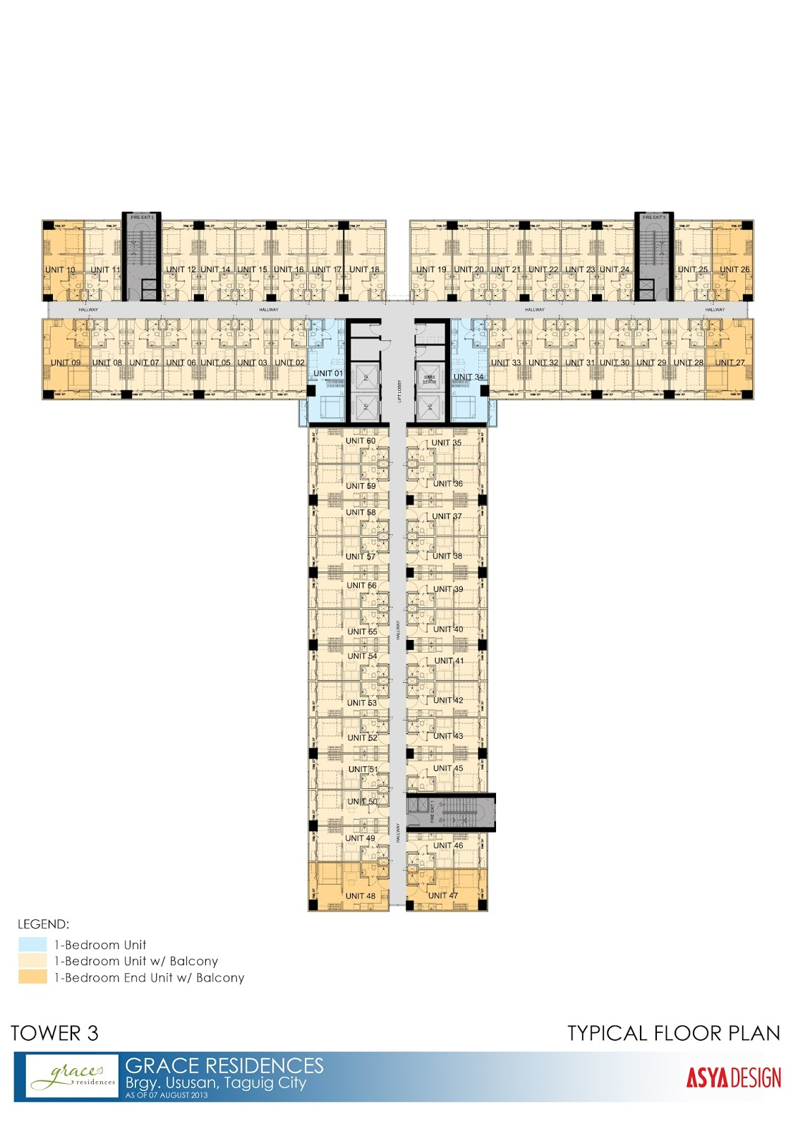 Floor plans unit layout grace residences by smdc for 10 shelford floor plan
