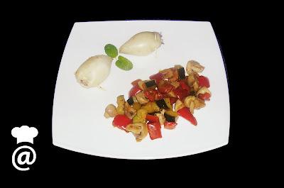 Recetas Chipirones y verduras