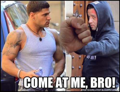jersey shore ronnie fights situation. Ronnie The Situation Fight