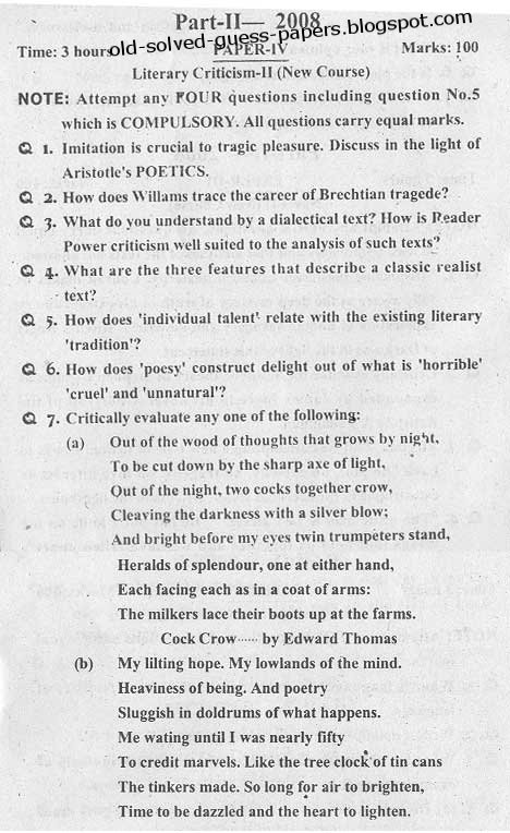 literary essays for m.a english This handout provides examples and description about writing papers in literature it discusses research topics, how to begin to research, how to use information, and.