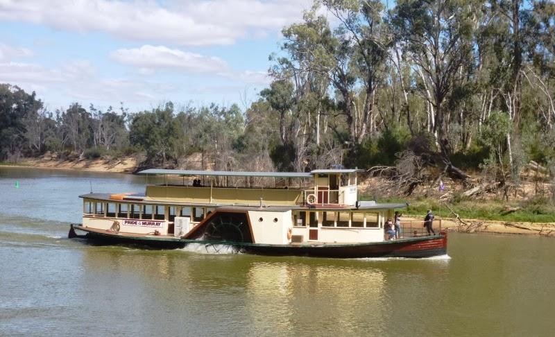 vapeurs fluviaux sur la Murray river , Australie