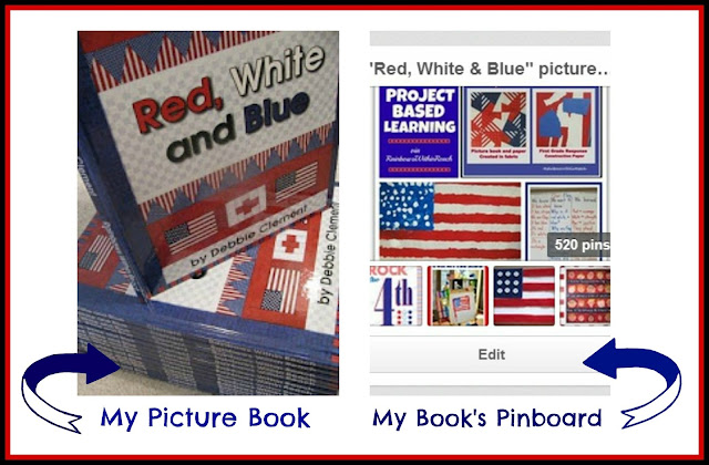 "photo of: ""Red, White and Blue"" Picture Book and Pinterest Support Board at RainbowsWithinReach"