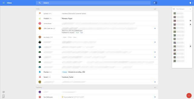 Google está testando o nova interface do Gmail