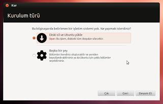 Ubuntu hard disk bölümleme nasıl yapılır?