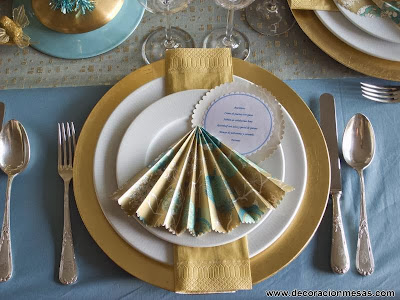 decoracion mesa Navidad adorno papel menu