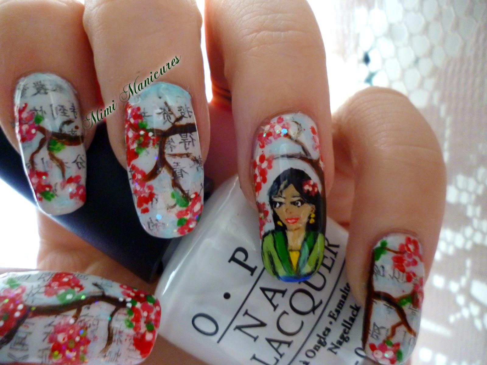 my adventures in nail polish: Disney Challenge...Mulan....hmmm