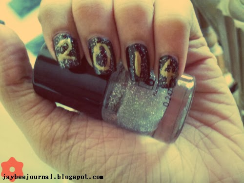 New Year Fireworks Nail Art
