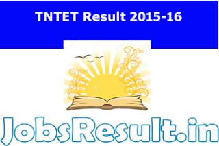 TNTET Result 2015-16