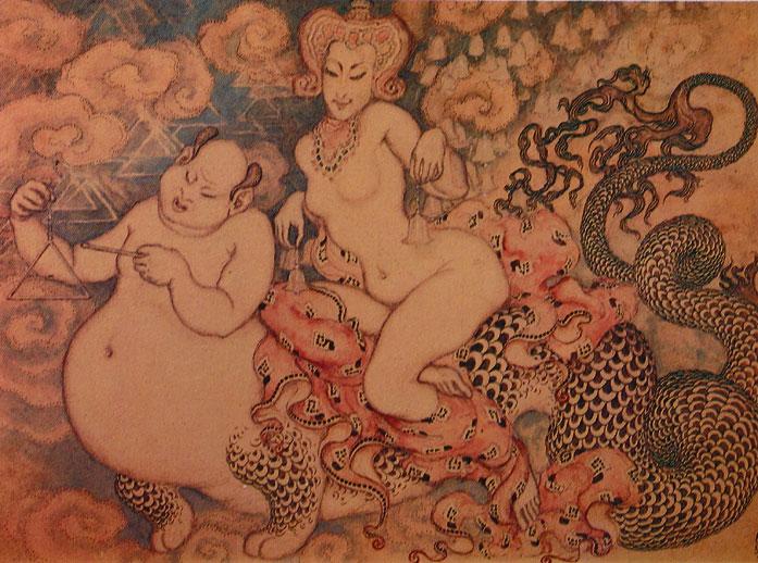 nicholas kalmakoff woman buddha