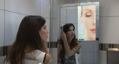 Video ad on mirror
