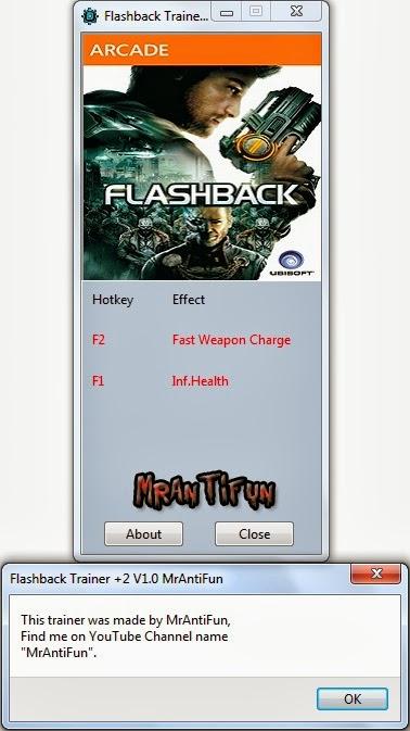 Flashback Trainer +2 V1.0 MrAntiFun