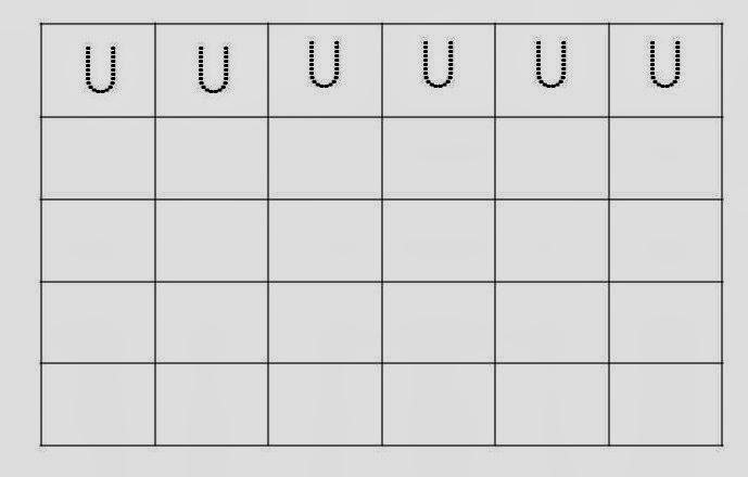 Alfabeto Pontilhado Letra U