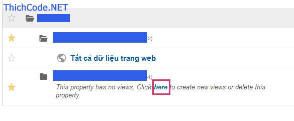 Xóa site đang theo dõi trong Google Analytics