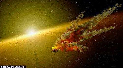 choque entre asteroides