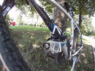GoPro Bike Mount on Down Tube