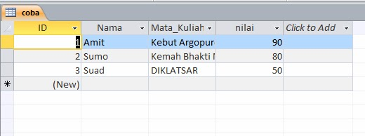 SUM Field Tabel Database di Delphi
