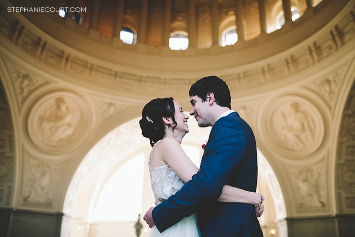 """San Francisco City Hall elopement photography"""